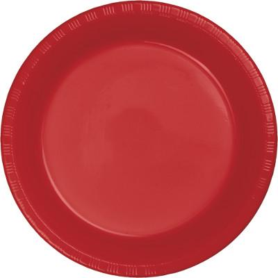 (600ct) Classic Red Plastic 9'' Plate Dinner