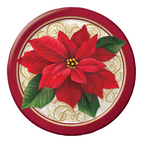 "Poinsettia Lace 9"" Dinner Plates (96/case)"