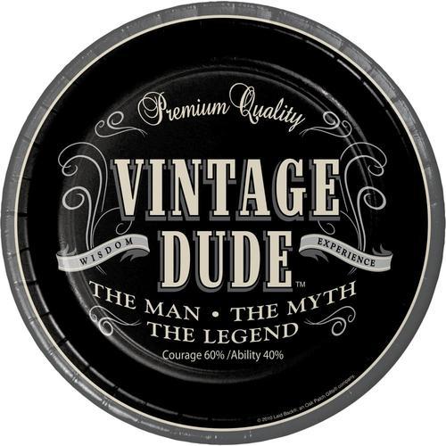 Vintage Dude 7'' Luncheon Plates (96/case)