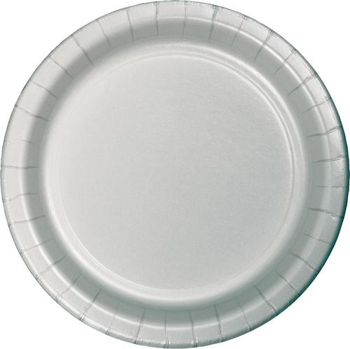 Shimmering Silver 8.75 Inch Paper Dinner Plates (240/case)
