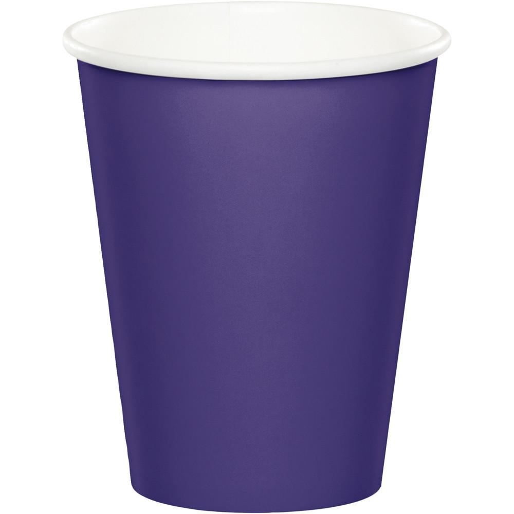 (240ct) Purple 9 Ounce Paper Cups.