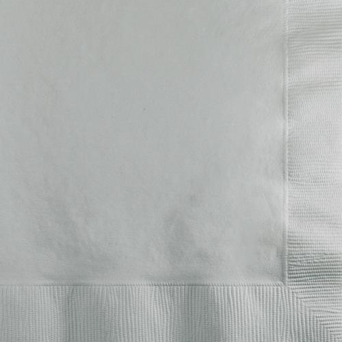 Shimmering Silver Napkin Beverage 3Ply (500/case)