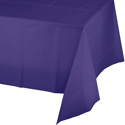 Purple Paper Polylined Rectangular Tablecovers 54 Inch By 108 Inch (6/case)
