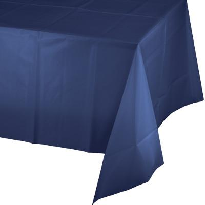 Navy Blue Paper Polylined Rectangular Tablecovers 54 Inch By 108 Inch (6/case)