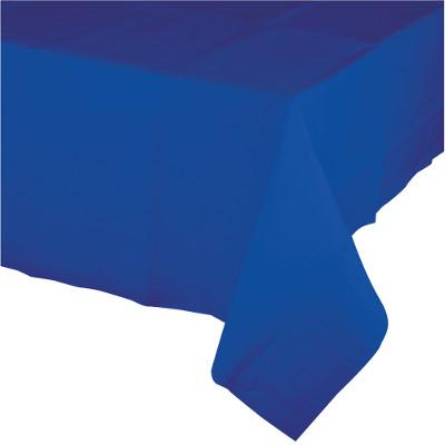 Cobalt Tissue Tablecover 54 inch x108 inch , Poly Backing (6/case)