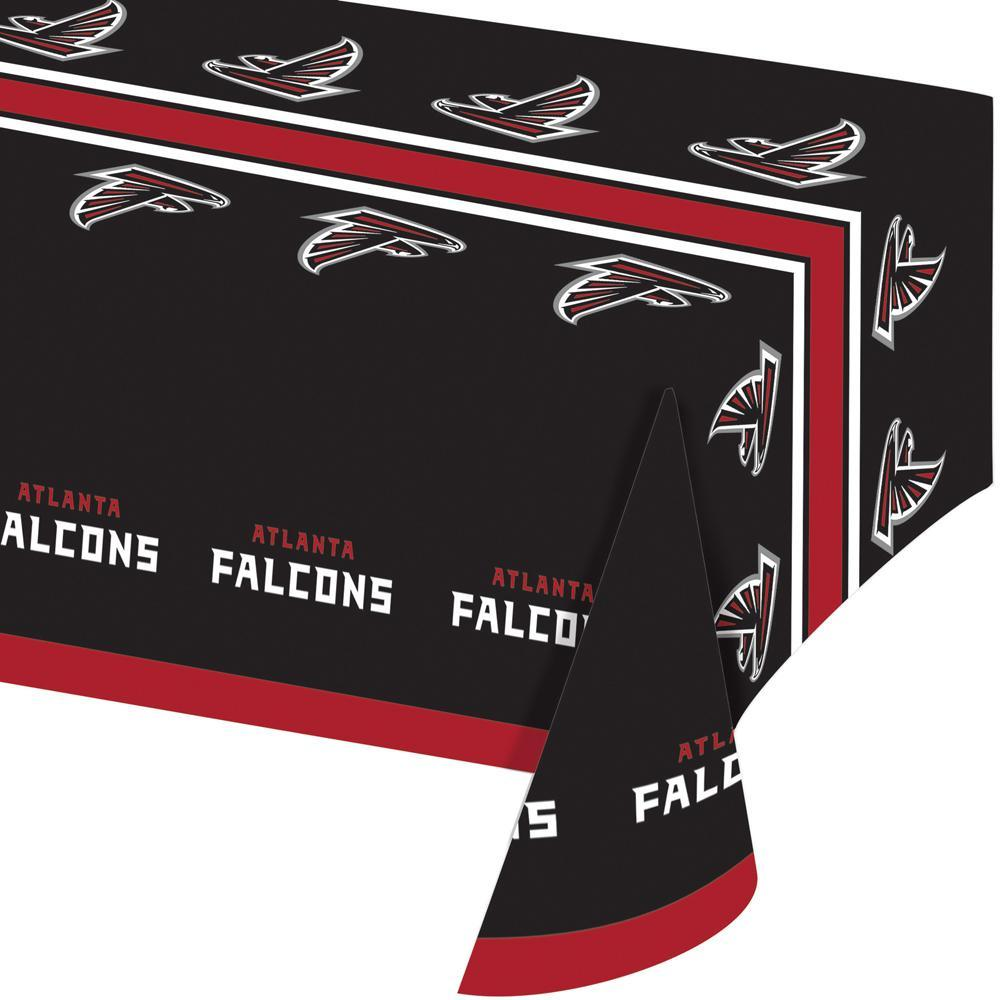 (12ct) Atlanta Falcons Plastic Tablecover 54''x102'', All Over Print