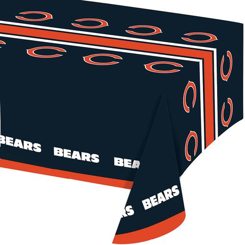 Chicago Bears Plastic Tablecover 54 inch x102 inch , All Over Print (12/case)