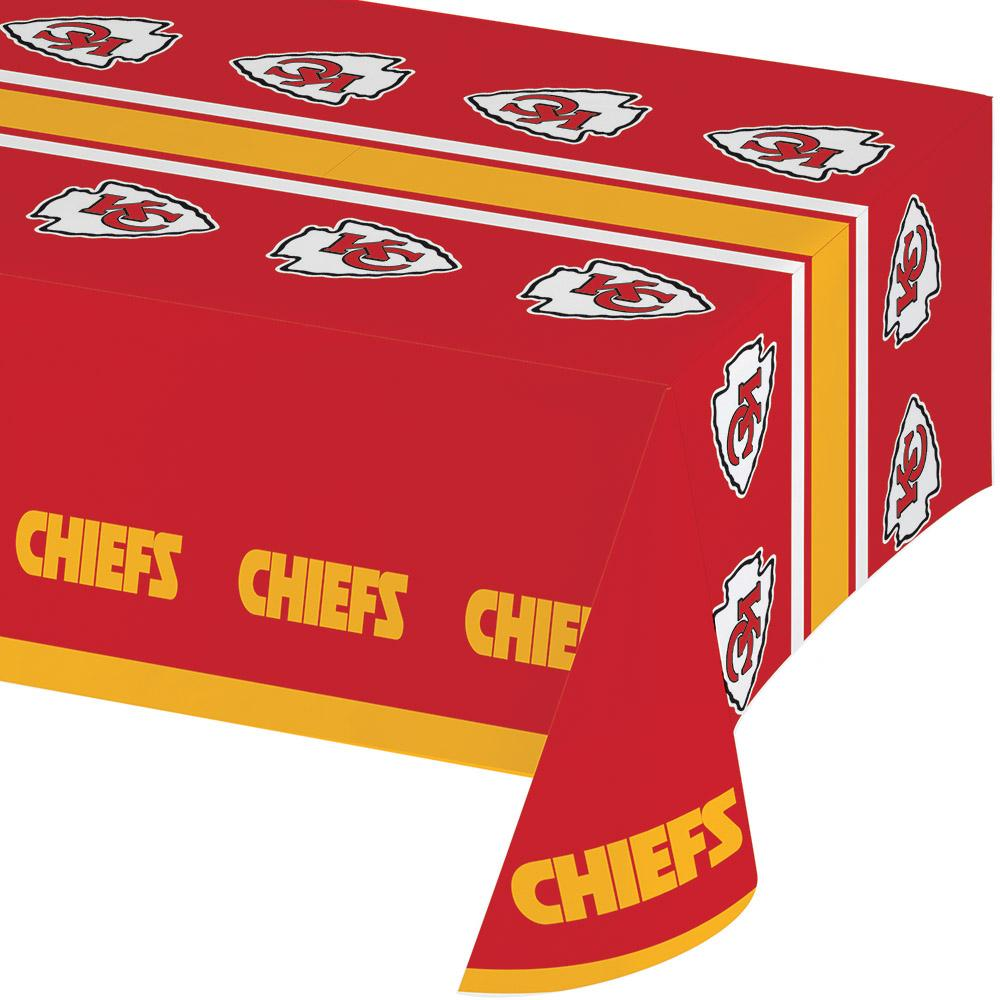 (12ct) Kansas City Chiefs Plastic Tablecover 54''x102''