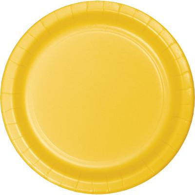 (900ct) School Bus Yellow Luncheon Plate ''Big Value''