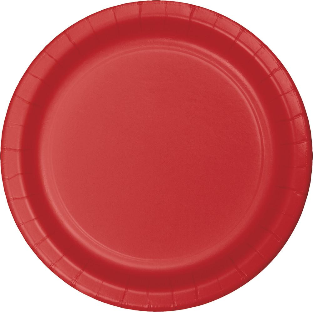 (240ct) Classic Red 6.75 Inch Paper Luncheon Plates