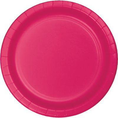 (240ct) Hot Magenta 6.75 Inch Paper Luncheon Plates