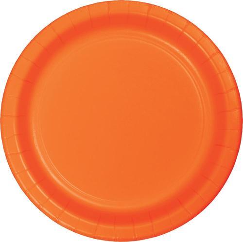 Sunkissed Orange 6.75 Inch Paper Luncheon Plates (240/case)