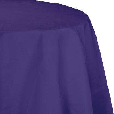 (12ct) Purple Paper Polylined Tablecover 82''