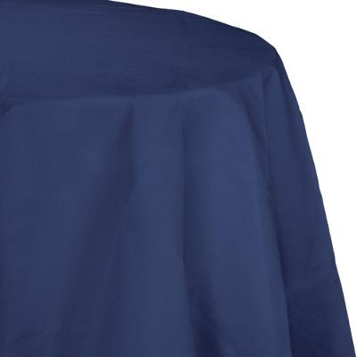 "Navy Paper Polylined Tablecover 82"" (12/case)"