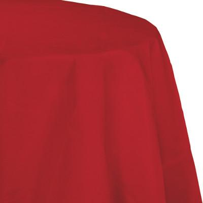 Classic Red Paper Polylined Tablecover 82 inch (12/case)