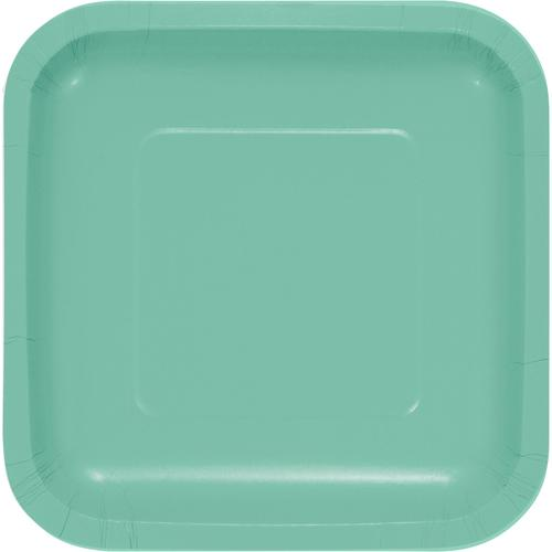 Fresh Mint Paper 7 inch Lunch Plate, Square (180/case)