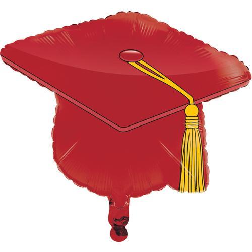 "Metallic Balloon,22"" Mortarboard Red (Case Pack of 10)"