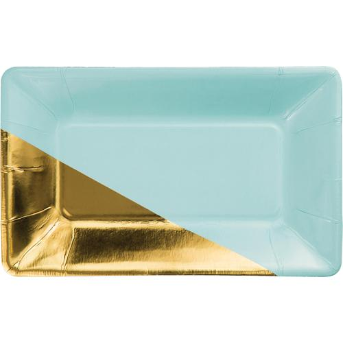 Mint Rectangular Appetizer Plate - Mint (Case Pack of 48)
