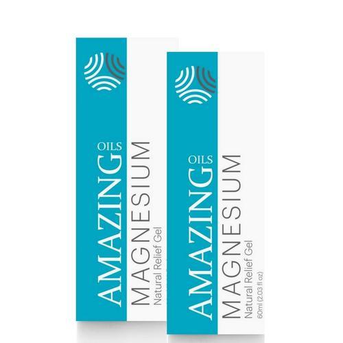 2 x 60ml Magnesium Gel Roll-On