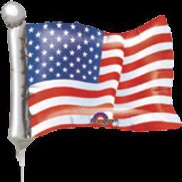 4th Of July 14'' American Flag Mini Shape-Flat, air-fill
