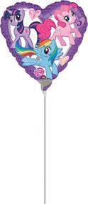 9'' My Little Pony Heart -Non-Pkg foil balloon