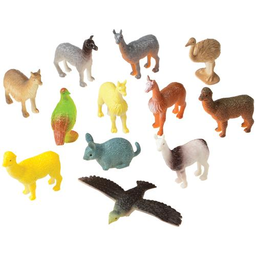 Mini South American Animals (pack of 12)