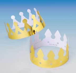 Foil Crowns (One Dozen)