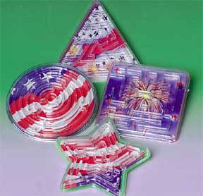 4th Of July Patriotic Maze Puzzles (One Dozen)