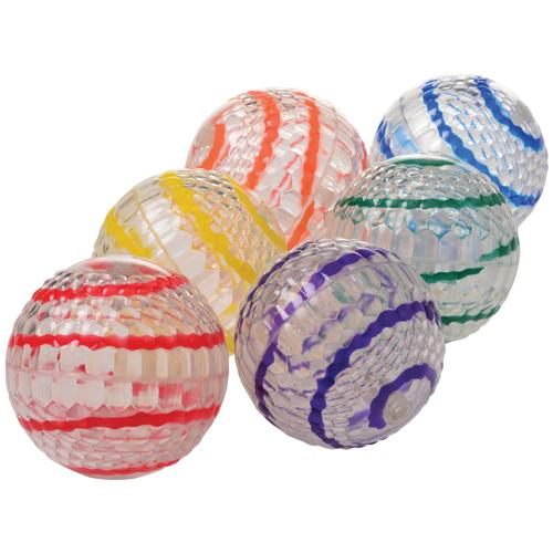 Striped Jump Ball With Light, 6 per Bag