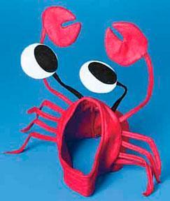 Luau Party Crab Hat