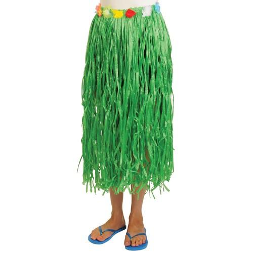 Luau Party Adult Hula Skirt With Flowers - Green