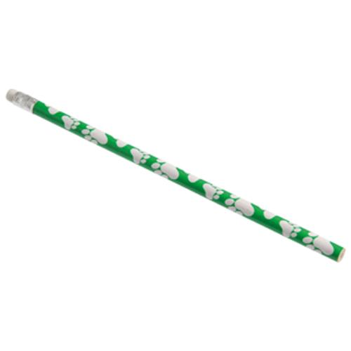 Paw Print Pencils, Green (one dozen)