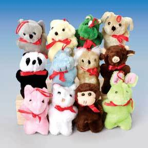 Plush Toy Plush Animal Assortment (One Dozen)
