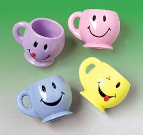Smile Face Mini Mugs (One Dozen)