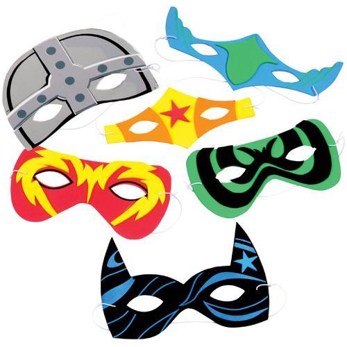 Foam Superhero Masks (1 dozen)