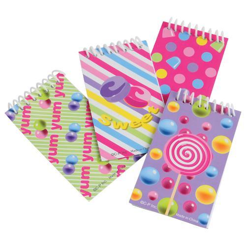 Candy Notebooks (One Dozen)