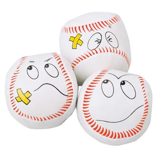 Baseball Face Kickballs (1 Dozen)