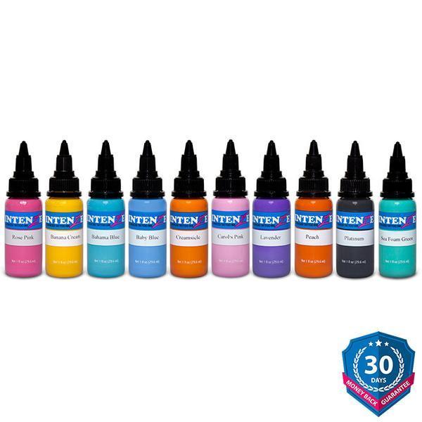 10 Pastel Color Tattoo Ink Set