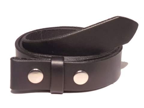 "100% Real Black 1 1/4"" Inch (32mm) Leather Belt Strap"