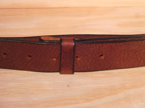 "100% Real Dark Brown 1 1/4"" Inch (32mm) Leather Belt Strap"