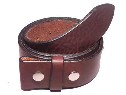 "100% Real Dark Brown 2"" Inch (50mm) Leather Belt Strap"