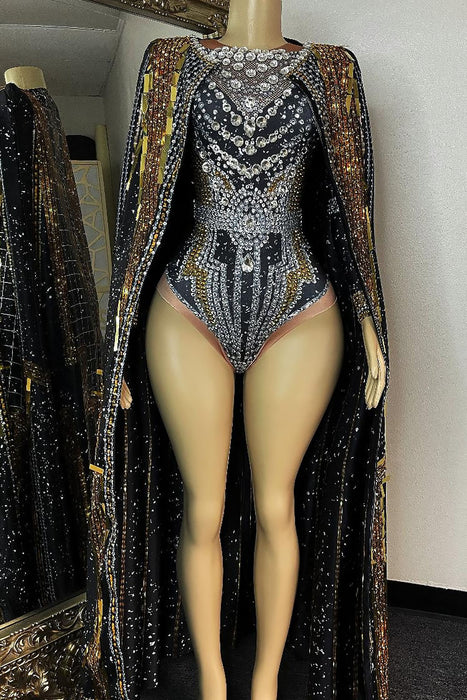 Love Goddess Diamond Bodysuit Set