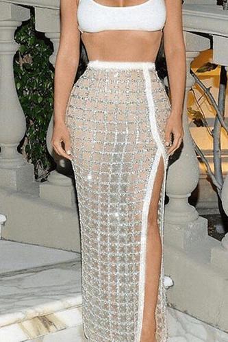 Kimmy Bandage Glitter Skirt
