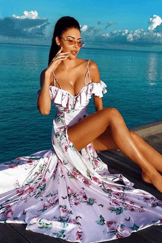 Blame It On Me Flowered Maxi Dress