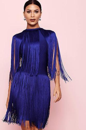 Fall For Your Type Tassel Bandage Dress