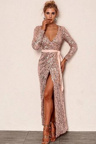 A little Bit Of Love Maxi Sequin Dress
