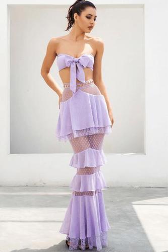 What A Bam Bam Purple Lace Set
