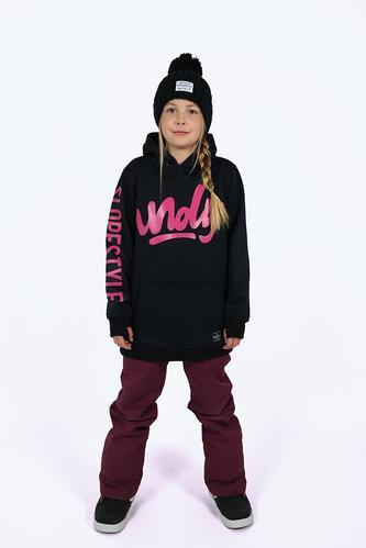 2016 Girls Coco Black Tech Snowboard Hoodie