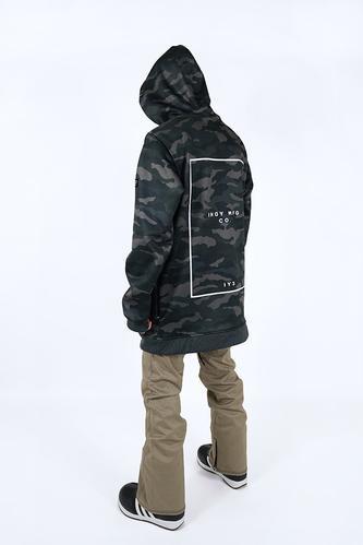 Mens Battalion Tech Snowboard Hoodie - Camo