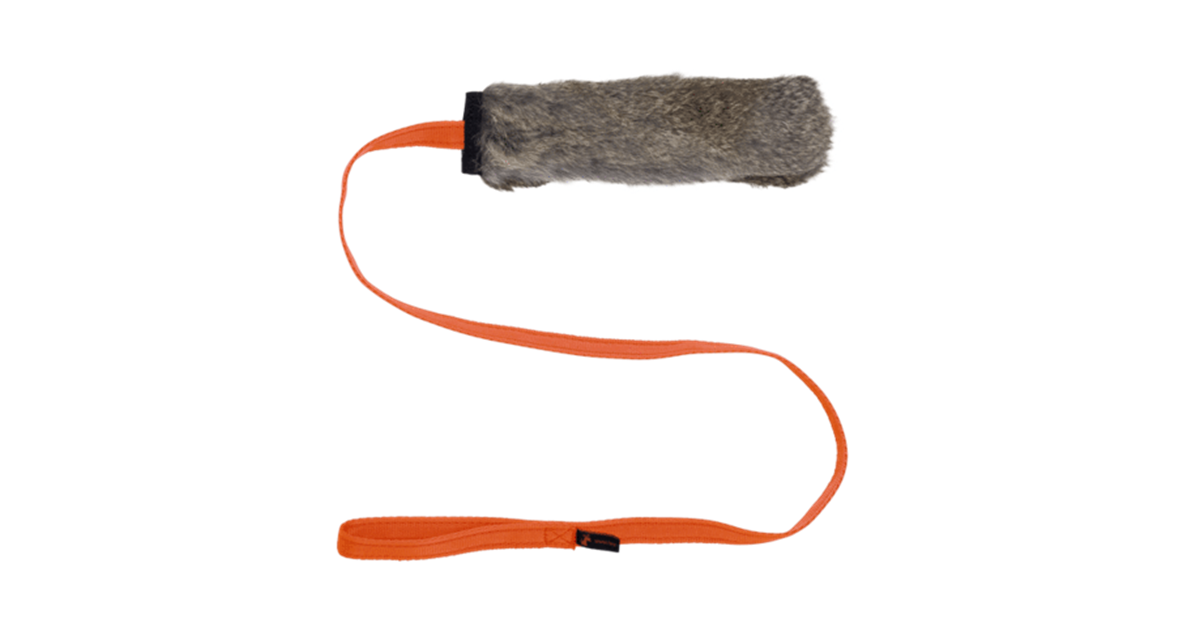 Rabbit Skin Chaser Tug with Squeaker